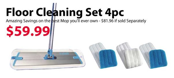 e-cloth floor cleaning set