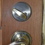 Filthy wooden door cleaned easily with Universal Stone
